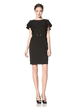 Calvin Klein Women's Flutter Sleeve Dress (Black)