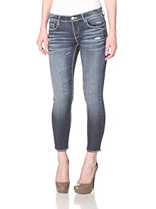 Driftwood Women's Whipstitch Skinny Jean (Medium Wash)