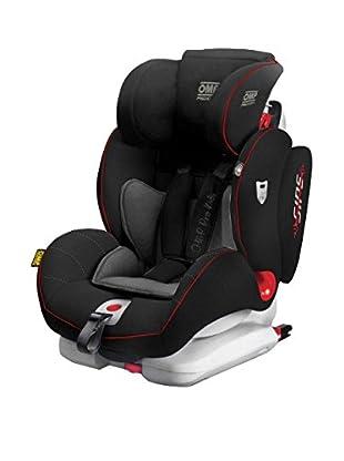 Babyauto Kindersitz KS02-Fix Gruppe 1,2,3 grau/schwarz