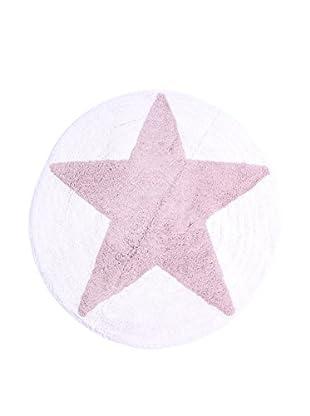 LA FINESSE Teppich rosa/weiß