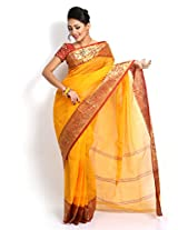 Uday Cotton Saree (Udsizeb12 _Yellow)