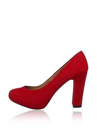 Buffalo Girl 325143 SY SUEDE 140894 - Plataformas  mujer (Rojo)