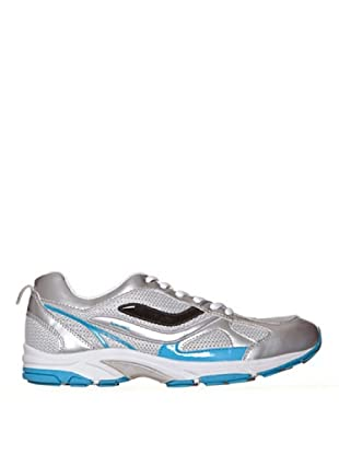 Spalding Zapatillas Run3 Lace (Plateado / Azul)