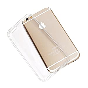 """ECellStreet Apple iPhone 6 4.7"""" Transparent Crystal Clear TPU Ultra Soft Back Case Cover Back Cover for Apple iPhone 6 4.7"""""""