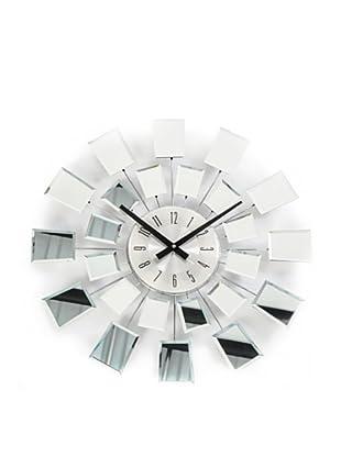World Friendly World Checker Reflection Wall Clock