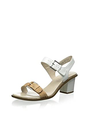 Rockport Women's Vikara Double Buckle Sandal (Bright White)