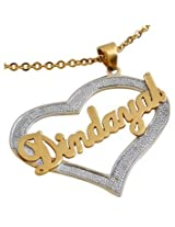Personalised Heart Bling Pendant Necklace for Dearest Hubby OPJBP04