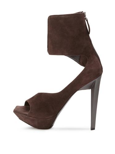 JIL SANDER Women's Cuffed Sandal (Dark Brown)