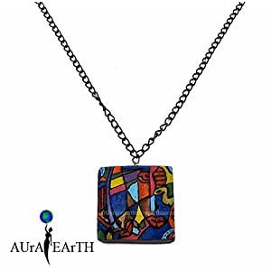 AUrA-EArTH Retro Pendent 2 Necklace