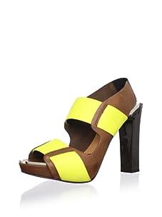 MARNI Women's Sandal Vitello Cuoio (Tobacco)