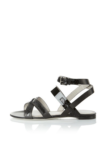 JASON WU Women's Carey Flat Sandal (Black)