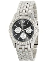 XOXO Women's XO5208 Black Dial Silver-tone Bracelet Watch