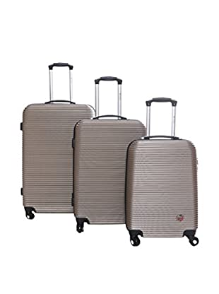 Geographical Norway Set de 3 trolleys rígidos Siprianie