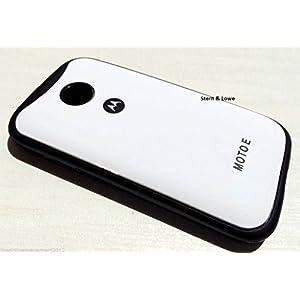 Stern & Lowe Cover for Motorola Moto E XT1022 Premium White Logo Series Hard Back Case Cover White