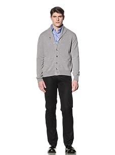 Cruciani Men's Shawl Collar Cardigan (Grey)