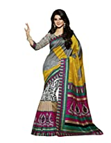 Multi Color Art Bahgalpur Silk Saree with Blouse 12537