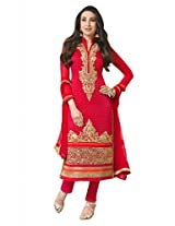 A V Fashion Women Georgette Salwar Suit Set (Karishma5106 _Red _Free Size)
