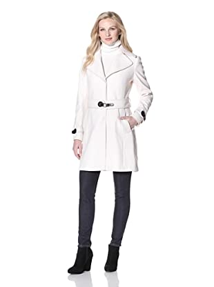 Via Spiga Women's Belted Wool Coat (Winter White)