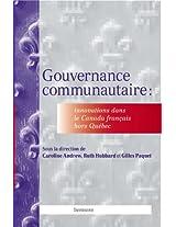 Gouvernance communautaire: Innovations dans le Canada Français hors Québec