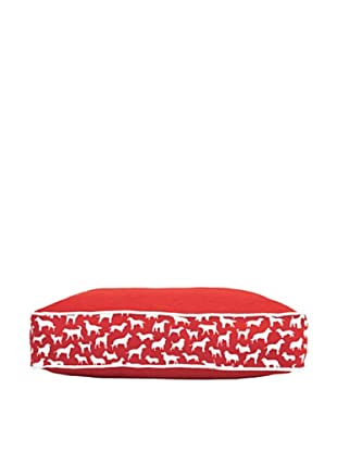 Harry Barker Kennel Club Rectangular Bed, Red, Small