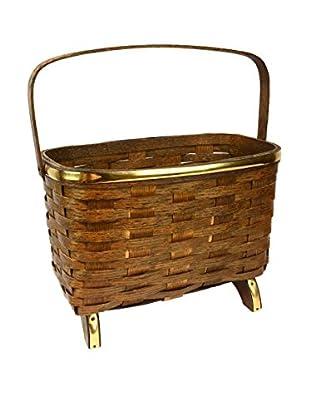 Vintage Basket, Brown/Brass