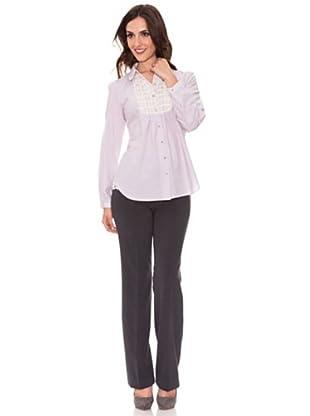 Cortefiel Basic-Bluse (Violett)