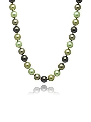 Perldor 60650005 - Collar de mujer de plata de ley con perla natural Gris/Verde 60 cm