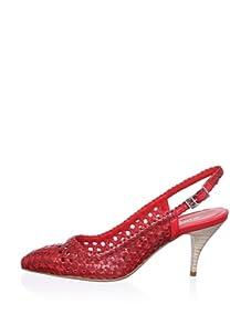 STEPHANE KELIAN Women's Reine Mid Heel Slingback (Rouge)