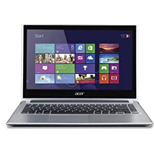 Acer Aspire V5-471P Laptop (3rd Gen Ci5/ 4GB/ 500GB/ Win8/ Touch) (NX.M3USI.005) (Silver)