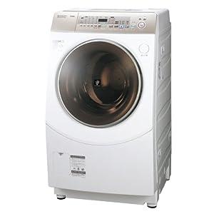 シャープ 10.0kg ドラム式洗濯乾燥機 【左開き】 ゴールド系SHARP プラズマクラスター洗濯機 ES-V530-NL