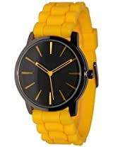 New Geneva Yellow w/ Black Silicone Watch