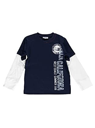 Camiseta Doppia Manica (Azul)