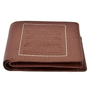 Je Porte 622 Litchi Brown Wallet For Men