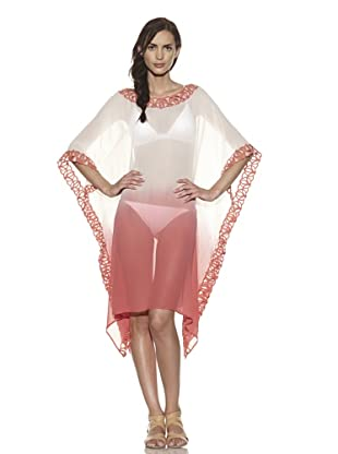 TIKKA Women's Boat-Neck Cascading Cover-Up (Coral)