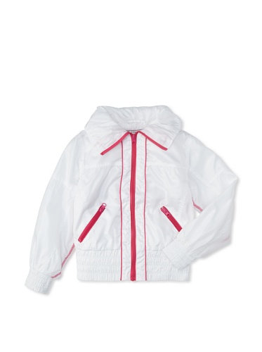 Coupé Cutie Girl's Lined Windbreaker Jacket (White)