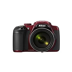Nikon Coolpix P600 16MP Point and Shoot Camera (Red) with 60x Optical Zoom, 8GB Card and Camera Case