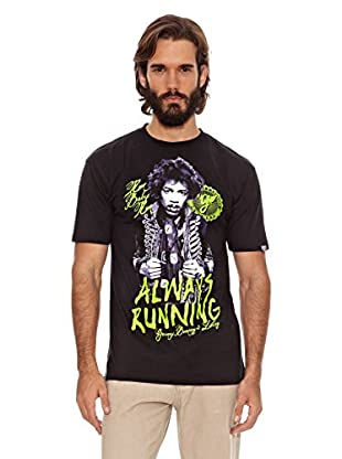 Grimey Wear Camiseta Always Running (Negro / Morado)