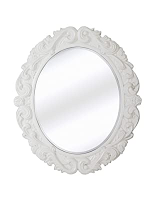 Sofia Round Mirror (White Lacquer)