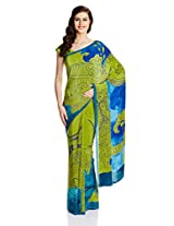 Satyapaul Saree with Blouse Piece (RD8910_01_SP363-0026_Light Olive)