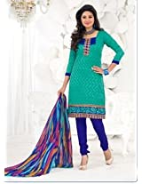 Saara Blue Embroidered Dress Material - 148D6018
