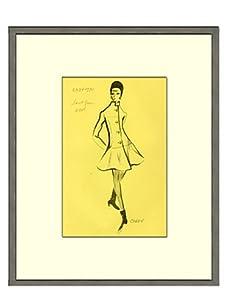 Vintage Women's Cardin Fashion Sketch c.1968