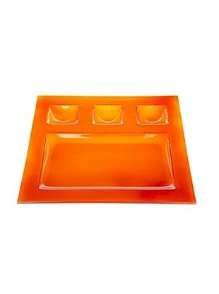 Kaleidos Piatto Chef Multiuso Quadro 28x28 cm (Arancio)