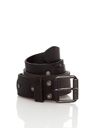 Springfield Cinturón Piel Hebilla (Negro)