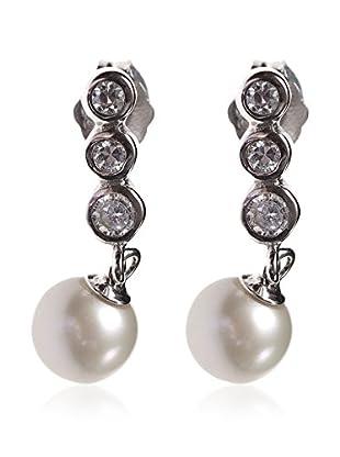 My Silver Pendientes Triple Circonita Perla