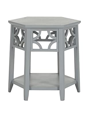 Safavieh Connor Hexagon End Table, Pearl Blue Grey
