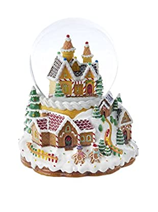 Kurt Adler Musical Light-Up Snowing Candy House Waterglobe