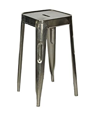 Melange Home Set of 2 Vintage Painted Stools, Aluminium