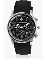 5129001 Black/Black Analog Watch Ted Lapidus