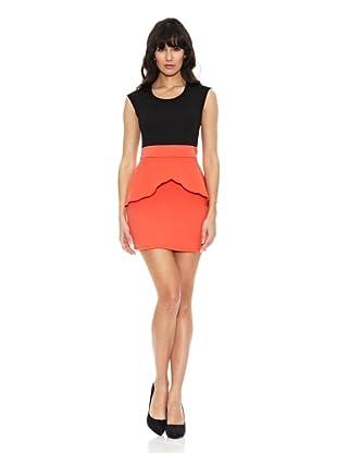 Pietro Garcia Vestido Color Block Chongqing (Negro / Naranja)