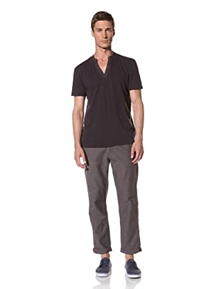 Zen Mechanics Men's Hashish Short Sleeve Henley (Black)